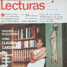 Coleccionismo de Revistas: CLAUDIA CARDINALE REVISTA LECTURAS N.777 AÑO 1967. Lote 168255604