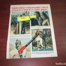 Coleccionismo de Revistas: SANCHO GRACIA Y PILAR VAZQUEZ EN CURRO JIMENEZ - RECORTE- LECTURAS AÑO 1975- VER DETALLES. Lote 168316512