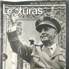 Coleccionismo de Revistas: REVISTA. LECTURAS. Nº 1232. 1975. ADIOS A ESPAÑA. FRANCO HA MUERTO. LEER.. Lote 168648420