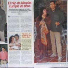 Coleccionismo de Revistas: RECORTE REVISTA LECTURAS Nº 2359 1997 MASSIEL. Lote 168954172