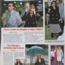 Coleccionismo de Revistas: RECORTE REVISTA LECTURAS Nº 2359 1997 ANA OBREGON, ROCIO JURADO. Lote 168954968