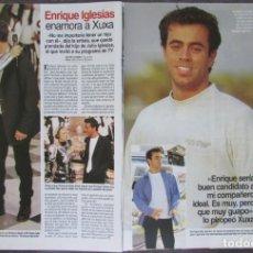 Collectionnisme de Magazines: RECORTE REVISTA LECTURAS Nº 2317 1996 XUXA, ENRIQUE IGLESIAS. Lote 168957912