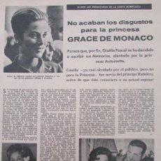 Coleccionismo de Revistas: RECORTE REVISTA LECTURAS Nº 656 1964 GRACE KELLY, MONACO. Lote 170864795