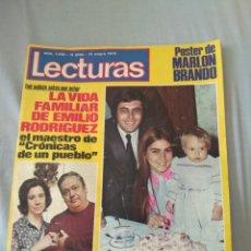 Coleccionismo de Revistas: REVISTA LECTURAS 1972 - ROMINA ALBANO - GEORGE HARRISON - MARISOL - MARLON BRANDO - SOFÍA LOREN -. Lote 171454787