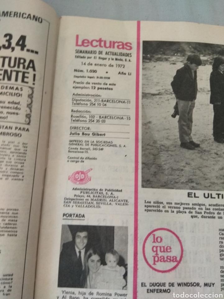 Coleccionismo de Revistas: Revista Lecturas 1972 - Romina Albano - George Harrison - Marisol - Marlon Brando - Sofía Loren - - Foto 3 - 171454787