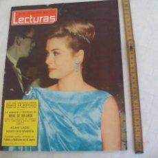 Coleccionismo de Revistas: REVISTA LECTURAS NÚM. Nº 616. 1964. GRACE DE MONACO, IRENE DE HOLANDA, ALAN LADD FABIOLA Y BALDUINO. Lote 171469030