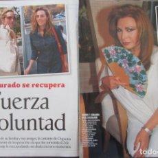 Coleccionismo de Revistas: RECORTE REVISTA LECTURAS Nº 2734 2004 ROCIO JURADO. PORTADA Y 6 PGS. . Lote 172162664