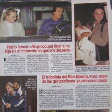 Collectionnisme de Magazines: RECORTE REVISTA LECTURAS Nº 2332 1996 ROCIO DURCAL, RAUL SANCHEZ. Lote 172162939
