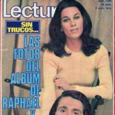 Coleccionismo de Revistas: LECTURAS Nº 1051-RAPHAEL/NATALIA 1,2,3,D CICUTA-MªDEL MAR BONET-CARMEN SEVILLA-JOAQUIN PRAT-AÑO 1972. Lote 172862625