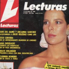 Coleccionismo de Revistas: LECTURAS Nº 1815 -EUGENIO HUMORISTA -TITA CERVERA- ANA DIOSDADO-CAROLINA DE MONACO-SERRAT BODA -1987. Lote 172867927