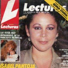 Coleccionismo de Revistas: LECTURAS Nº 1900-ISABEL PANTOJA - LBARBARA REY-JOAQUIN PRAT-ROSARIO FLORES-ESPARTACO SANTONI - -1988. Lote 172868132