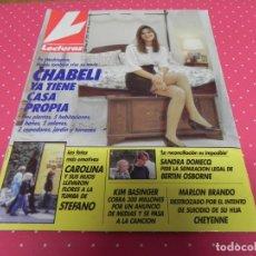 Coleccionismo de Revistas: REVISTA LECTURAS / NOVIEMBRE 1990 / CHABELI,SANDRA DOMEQ,KIM BASINGUER,MARLON BRANDO. . Lote 172941473