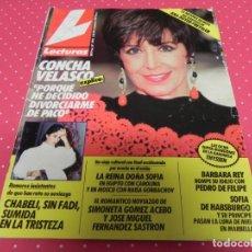 Coleccionismo de Revistas: REVISTA LECTURAS - Nº 1978 - 1990 -CONCHA VELASCO, MARTA CHÁVARRI, MARÍA ESTEVE, CHABELI, ESTEFANÍA . Lote 172941775