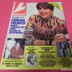 Coleccionismo de Revistas: REVISTA LECTURAS 22/02/1991 ISABEL PREYSLER - CONCHA VELASCO - CORAL BISTUER . Lote 173090884