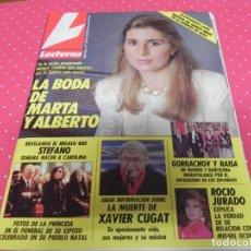 Coleccionismo de Revistas: REVISTA LECTURAS - Nº2014 - 1990 - MARTA CHAVARRI,XAVIER CUGAT,ROCIO JURADO.GORBACHOV. Lote 173316054