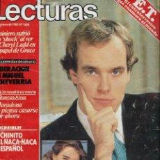 Coleccionismo de Revistas: LECTURAS Nº 1606-MARADONA-LECTURAS EN 1,2,3..- ALBERTO DE MONACO - E.T.-DINASTIA (SERIE)- ENERO 1983. Lote 173418717
