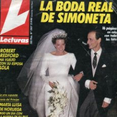 Coleccionismo de Revistas: LECTURAS Nº 2007 - SIMONETA BODA REAL - PERET - PRISCILLA PRESLEY - ANDRES PAJARES - SEPTIEMBRE 1990. Lote 173419289