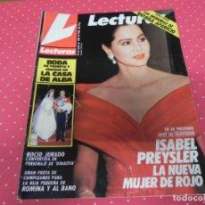 Coleccionismo de Revistas: LECTURAS JUNIO DE 1988 ISABEL PREYSLER ROCÍO JURADO ROMINA Y ALBANO. Lote 173676354