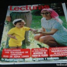 Coleccionismo de Revistas: REVISTA LECTURAS EN ESTADO ACEPTABLE 963 2 OCTUBRE 1970. Lote 173680155