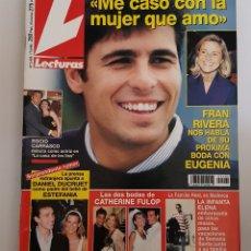 Coleccionismo de Revistas: REVISTA LECTURAS. Nº 2402. 17 ABRIL 1998. FRAN RIVERA -ME CASO CON LA MUJER QUE AMO-. TDKR64. Lote 174865164