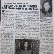 Coleccionismo de Revistas: RECORTE REVISTA LECTURAS Nº 1455 1980 PEPA FLORES. MARISOL. Lote 175769919