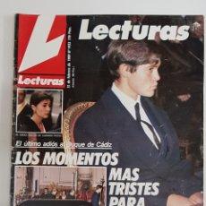 Coleccionismo de Revistas: REVISTA LECTURAS. Nº1923. 15 FEBRERO 1989. ULTIMO ADIOS AL DUQUE DE CADIZ.TDKR62. Lote 177113214