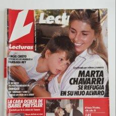 Coleccionismo de Revistas: REVISTA LECTURAS. Nº1947. 28JULIO1989. MARTA CHAVARRI SE REFUGIA EN SU HIJO ALVARO. TDKR62. Lote 177113984