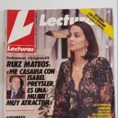 Coleccionismo de Revistas: REVISTA LECTURAS. Nº1941. JUNIO 1989. RUIZ MATEOS. ME CASARIA CON ISABEL PREYSLER ES UNA MUJERTDKR62. Lote 177114334