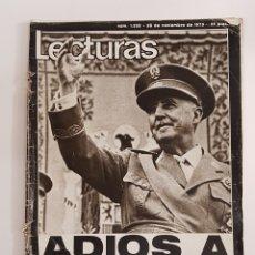 Coleccionismo de Revistas: REVISTA LECTURAS. Nº1232. 28 NOVIEMBRE 1975. ADIOS A ESPAÑA. TDKR62. Lote 177114922