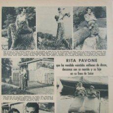 Coleccionismo de Revistas: RECORTE REVISTA LECTURAS Nº 961 1970 RITA PAVONE. HUMPERDINK. Lote 177383703