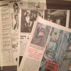 Coleccionismo de Revistas: MARISOL 5 HOJAS AÑOS 1969 Y 1973, CON 17 FOTOGRAFIAS EN B/N Y COLOR Y UN COMIC ,CLIPPING. Lote 177470264