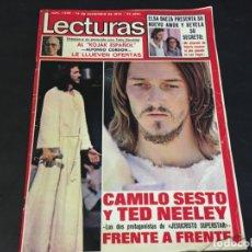 Coleccionismo de Revistas: REVISTA LECTURAS 1975 JESUCRISTO SUPERSTAR CAMILO SESTO MARISOL MARIA LUISA SECO MONTSERRA CABALLE. Lote 179217992