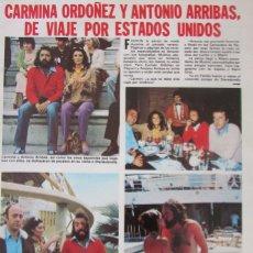 Coleccionismo de Revistas: RECORTE REVISTA LECTURAS Nº 1460 1980 CARMINA ORDOÑEZ Y ANTONIO ARRIBAS. . Lote 179240031