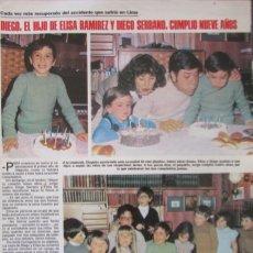 Coleccionismo de Revistas: RECORTE REVISTA LECTURAS Nº 1460 1980 GEMA CUERVO, ELISA RAMIREZ, DIEGO SERRANO. PATTY SHEPARD. Lote 179240421