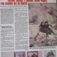 Coleccionismo de Revistas: RECORTE REVISTA LECTURAS Nº 1460 1980 PALOMO LINARES Y MARINA DANKO. Lote 179240698