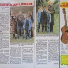 Coleccionismo de Revistas: RECORTE REVISTA LECTURAS Nº 1460 1980 RICARDO DE LA CIERVA, MANOLO CALATRAVA. Lote 179240755