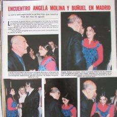 Coleccionismo de Revistas: RECORTE REVISTA LECTURAS Nº 1460 1980 ANGELA MOLINA, BUÑUEL. . Lote 179240852