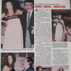 Coleccionismo de Revistas: RECORTE REVISTA LECTURAS Nº 1460 1980 MONICA RANDALL, PEPE SACRISTAN. Lote 179240863