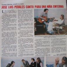 Coleccionismo de Revistas: RECORTE REVISTA LECTURAS Nº 1460 1980 JOSE LUIS PERALES. Lote 179240891