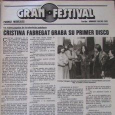 Coleccionismo de Revistas: RECORTE REVISTA LECTURAS Nº 1460 1980 CRISTINA FABREGAT, NEOTON. Lote 179240993