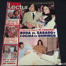 Coleccionismo de Revistas: LECTURAS 1975 LAS GRECAS KOJAK CHIRIPITIFLAUTICOS MIGUEL BOSE LA CASA DE LA PRADERA CECILIA PINK FLO. Lote 179330051