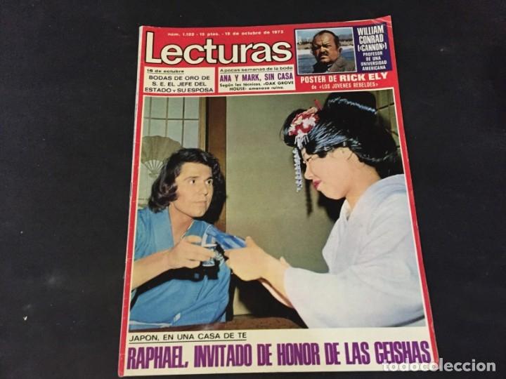 LECTURAS 1973 RAPHAEL SERGIO Y ESTIBALIZ LINA MORGAN CRONICAS DE UN PUEBLO MASSIEL ROCIO DURCAL BAU (Coleccionismo - Revistas y Periódicos Modernos (a partir de 1.940) - Revista Lecturas)