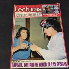 Coleccionismo de Revistas: LECTURAS 1973 RAPHAEL SERGIO Y ESTIBALIZ LINA MORGAN CRONICAS DE UN PUEBLO MASSIEL ROCIO DURCAL BAU. Lote 179331502