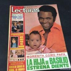 Coleccionismo de Revistas: LECTURAS 1974 SALOME MARISOL ROCIO JURADO PABLO SANZ LOS PAYASOS MASSIEL KIKO LEDGARD TOM JONES. Lote 179331872