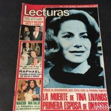 Coleccionismo de Revistas: LECTURAS 1974 RAPHAEL SHERLOCK HOLMES TV NADIUSKA AGATA LYS GEORGIE DANN MARIBEL MARTIN PEDRO MEYER . Lote 179332426