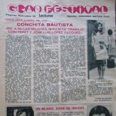 Coleccionismo de Revistas: RECORTE REVISTA LECTURAS Nº 982 1971 CONCHITA BAUTISTA. Lote 181462701