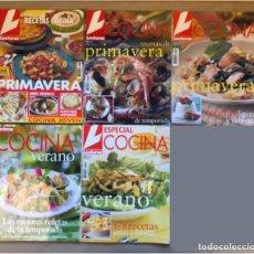 Coleccionismo de Revistas: LOTE DE 5 REVISTAS LECTURAS -ESPECIAL COCINA - (3 DE RECETAS DE PRIMAVERA, 1 DE VERANO Y 1 DE INVIER. Lote 147463022