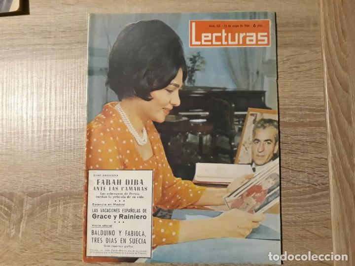 GRACE Y RAINIERO,BALDUINO Y FABIOLA, ETC.LECTURAS 631 AÑO 1964 (Coleccionismo - Revistas y Periódicos Modernos (a partir de 1.940) - Revista Lecturas)