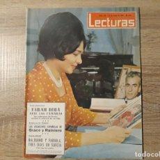 Coleccionismo de Revistas: GRACE Y RAINIERO,BALDUINO Y FABIOLA, ETC.LECTURAS 631 AÑO 1964. Lote 182406323