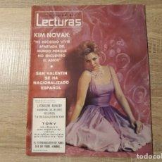 Coleccionismo de Revistas: KIM NOVAK, JACQUELINE KENNEDY ETC.LECTURAS 639 AÑO 1964. Lote 182406731